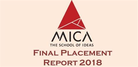 Mica Mba Admission 2017 by Mica Ahmedabad Placement Report 2017 Career