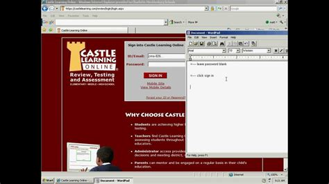 Castle L by Castle Learning Student Setup With Class Assignments