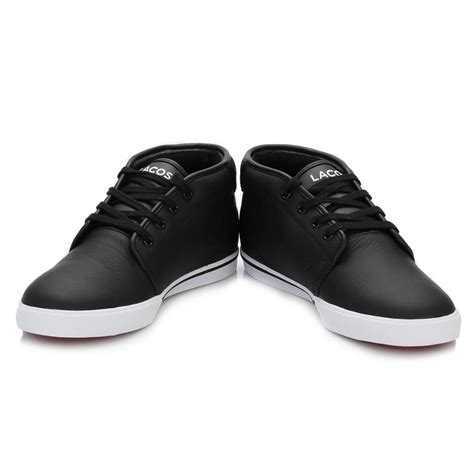 comfortable black sneakers lacoste mens trainers comfortable black thill lace up