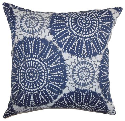 Mediterranean Throw Pillows maizah geometric pillow blue 18 quot x18 quot mediterranean