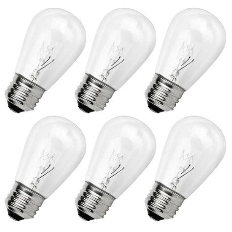 outdoor light bulb string newhouse lighting outdoor weatherproof 11 watt s14