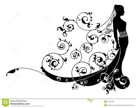 Princess Bride Wedding Dress Concept Stock Vector   Image