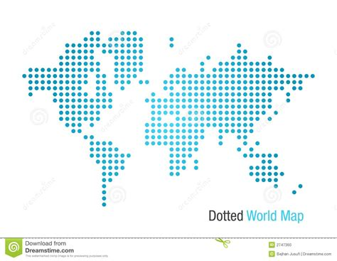 world dot map dotted world map stock vector illustration of africa