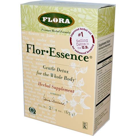 Flor Essence Detox Diet by Buy Flora Flor Essence Detox Formula Herbal Tea Blend
