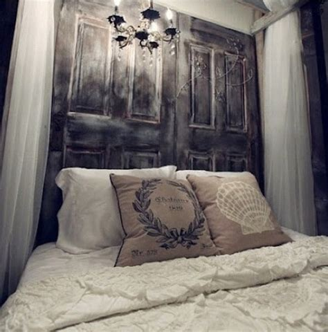 diy headboards pinterest door headboard diy pinterest