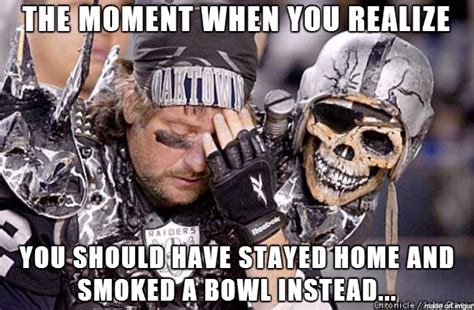 Broncos Raiders Meme - raider s moment of clarity original meme s made by captaincrazyeye pinterest football