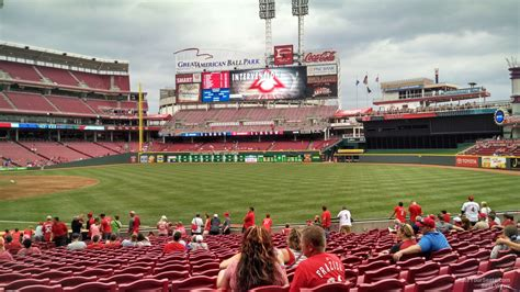 great american park section 135 cincinnati reds