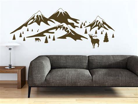 kinderzimmer berge deko sch 246 ne alpen deko mit wandtattoos hirsche berge und