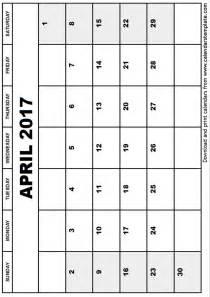 Calendar 2018 Aprilie April 2017 Calendar Template