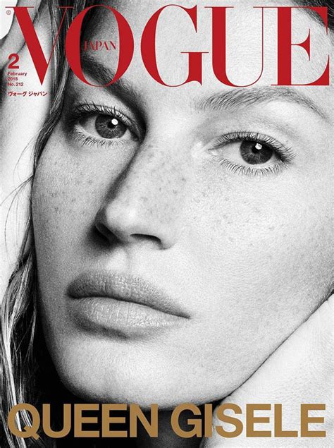 On The Cover Of Vogue This February by Gisele Bundchen Is The Cover Of Vogue Japan February