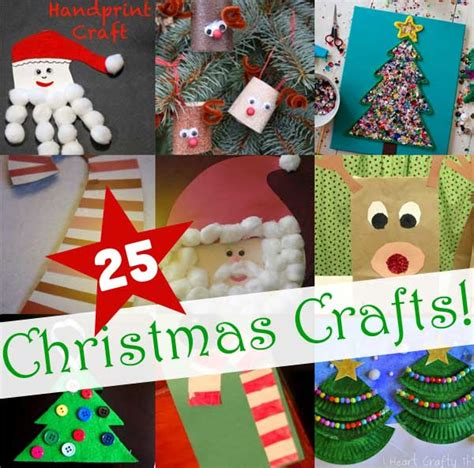 25 easy christmas crafts for kids to make hands on as we