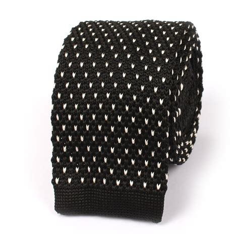 white pattern tie black white pattern knitted tie knit ties knits