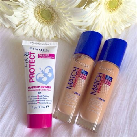 Rimmel Primer Fix And Protect rimmel match perfection foundation review rimmel fix and