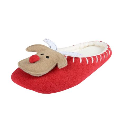 rudolph slippers womens rudolph reindeer slippers classic mule style