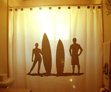 surfer shower curtain surfers surfing shower curtain surf board beach bathroom decor