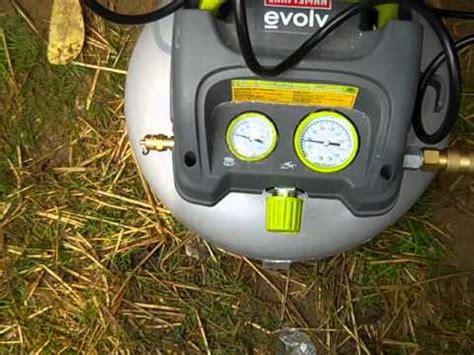 craftsman evolv air compressor youtube