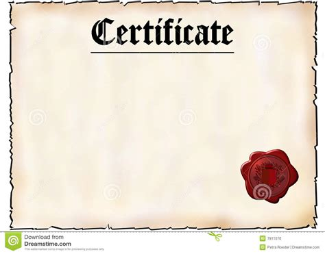 blank certificate stock photo image 7911070