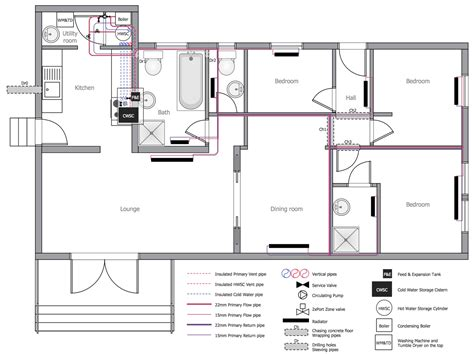 Floor Plan With Plumbing Layout by Building Plumbing Piping Plans House Water Heating And
