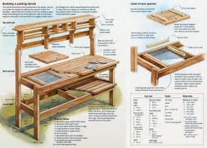 potting bench plans diy potting bench woodworking plan easy wood projects you can