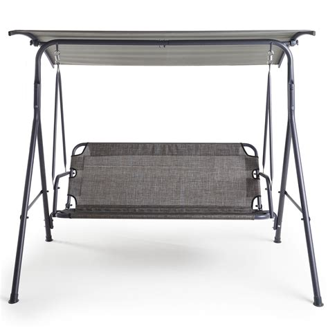 canopy swing seat vonhaus 3 seater swing seat with canopy outdoor garden