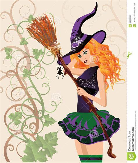 imagenes hermosas de halloween bruja y ara 241 a hermosas tarjeta de halloween ilustraci 243 n
