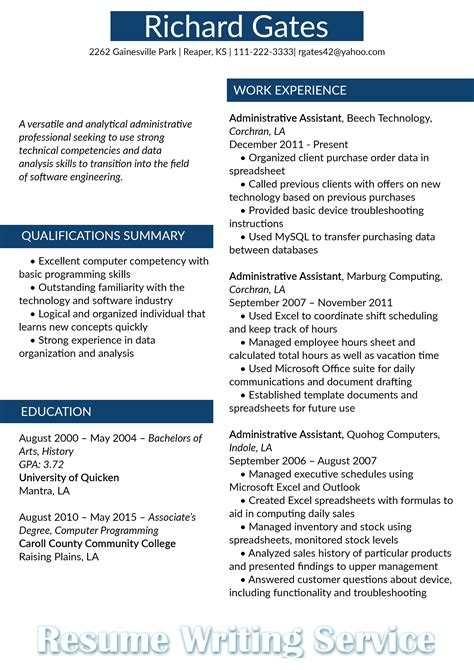Career Change Resume Templates by Career Change Resume Format Resume Template Easy Http