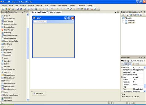 imagenes visual basic 2008 el tony y sus ondas menus en visual basic net y 2005