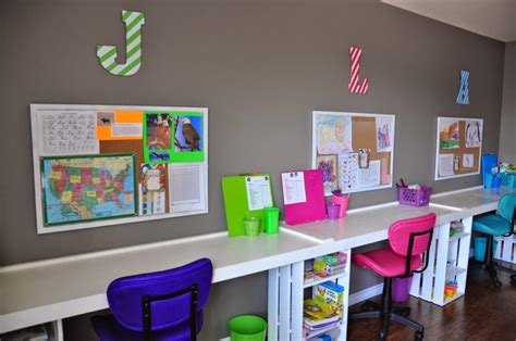 How To Set Up An Adhd Homeschool Room Room Desk Organization