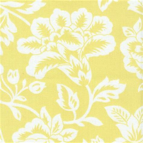 pale yellow pattern fabric fabric freak ff sunny yellow and white floral outdoor fabric