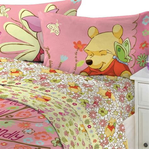 winnie the pooh bedroom sets 4pc winnie the pooh cheerful flowers full bedding sheet