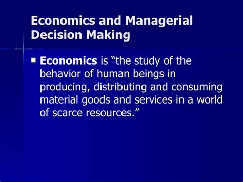 the economics of managerial decisions what s new in economics books introduction to me siom