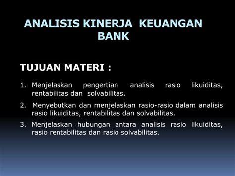 Analisis Kinerja ppt analisis kinerja keuangan bank powerpoint presentation id 6278848