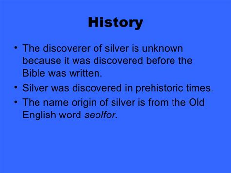 the origin of the family property and the state books silver element