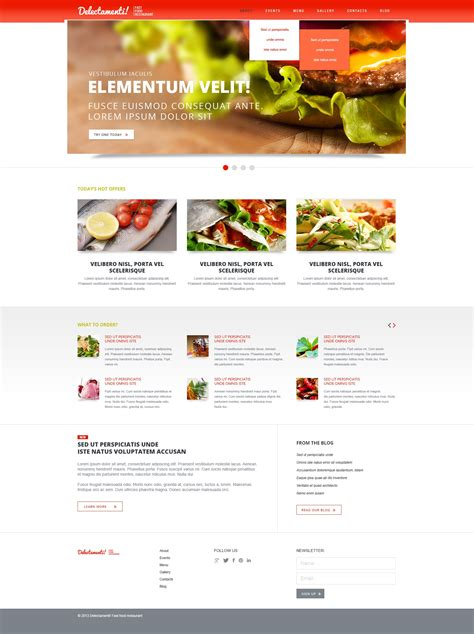 joomla restaurant template fast food restaurant joomla template 44275