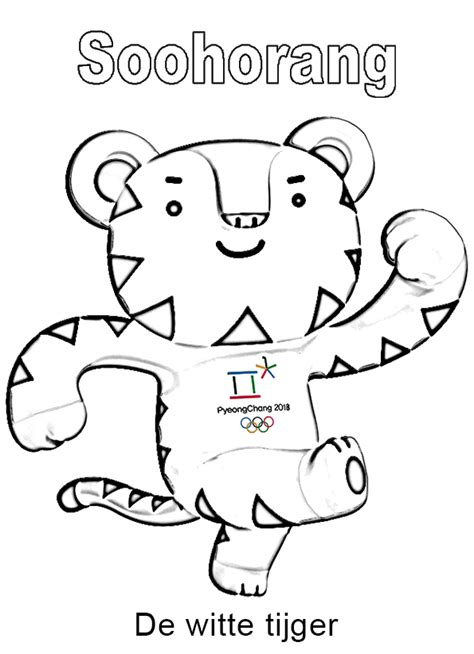 Kleurplaat Olympische Spelen Pyeongchang 2018 Mascotte And The Coloring Page