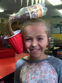 hair in days crazy hair day pop bottle spill pony tail hair ideas for