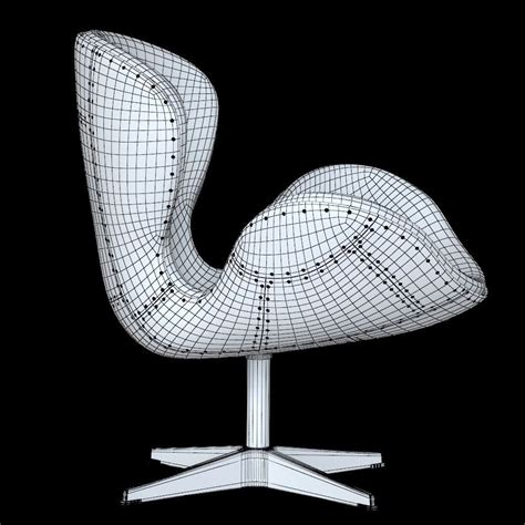 seat spitfire swan chair aviator  colors  model max cgtradercom
