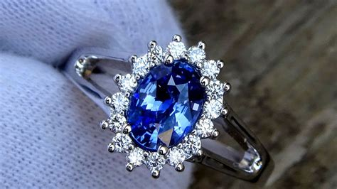 Blue Safir Sapphire 5 5ct 1 5 ct unheated blue sapphire and ring in