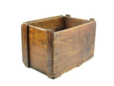 small crates vintage wood crate wooden box caramel brown small side table