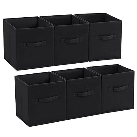Cube Storage Fabric Drawers by Songmics Set Of 6 Storage Cubes Foldable Fabric Drawer