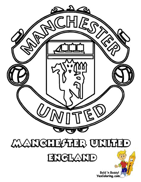 Manchester United Coloring Pictures explosive soccer football colouring free