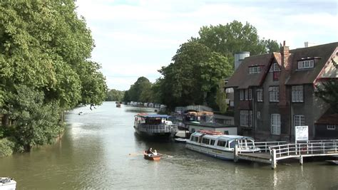 thames river cruise oxford oxford uk august 22 the river thames near head of the