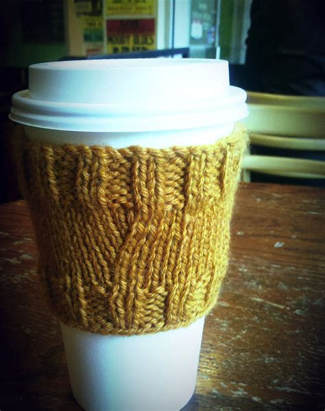 coffee sleeve knitting pattern items similar to coffee cover up cozy sleeve knit pattern