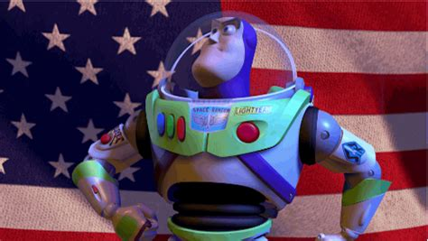 Patriotism Patriotism Everywhere Buzz And Woody Meme - proud american gif by disney pixar find share on giphy