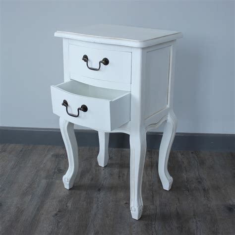 White 2 Drawer Bedside Table by White 2 Drawer Side Table Melody Maison 174