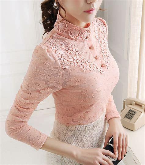 Mutiara Blouse Pink Balotelly Is blouse eksklusif lengan panjang warna solid pink lace