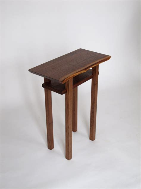 tiny side table live edge side end table small accent table bed side table