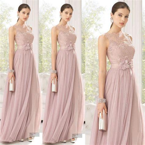 blush color dress bridesmaids dresses blush color tulle lace made