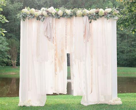 breathtaking bohemian outdoor wedding altar