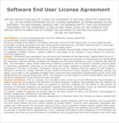 User Agreement Template by End User License Agreement 7 Free Sles Exles